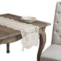 Saro Handmade Crochet Lace Table Linens