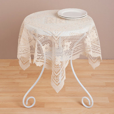 Saro Tuscany Lace 36-inch Table Topper
