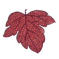 Eziba Leaf Design Sangria Red Doilies (Set of 4)