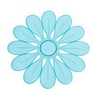Eziba Flower Design Persimmon Doilies (Set of 4)