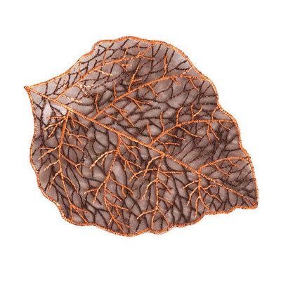 Saro Leaf Doily (Set of 4) Size: 6