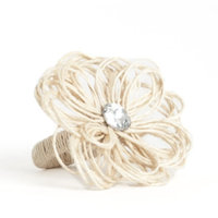 Saro Flower Design Napkin Ring (set of 4)