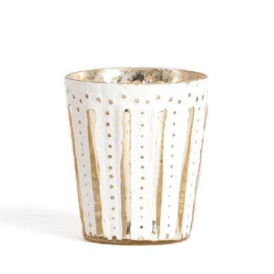 Saro Glass V017 Candle Holder (Set of 2)