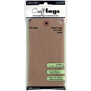Ranger Inkssentials Surfaces Craft #12 Giant Tags Heavyweight Kraft ISC35213