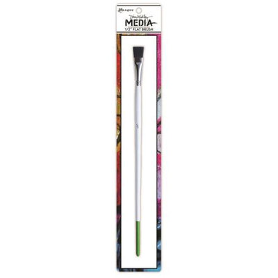 Ranger Dina Wakley Media Stiff Bristle Paint Brush.5in Flat