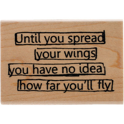 Ranger Dyan Reaveley's Dylusions Mounted Stamp-Wings Quote
