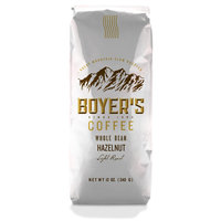 Boyer's Coffee Hazelnut Light Roast Whole Bean Coffee, 12 oz