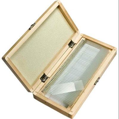 Barska 50 Blank Microscope Slides with Wooden Case