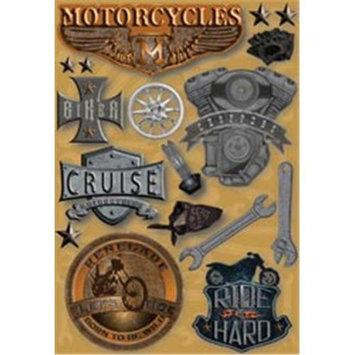 Karen Foster 381288 Motorcycle Cardstock Stickers 5.5 in. x 9 in. Sheets
