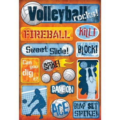 Karen Foster Volleyball Cardstock Stickers 5.5 X9 -Volleyball Rocks