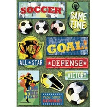 Karen Foster 414176 Soccer Cardstock Stickers 5. 5 inch x 9 inch -All-Star