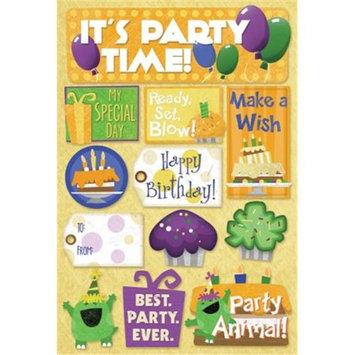 Karen Foster 472573 Birthday Cardstock Stickers 5.5 in. x 9 in. -Make A Wish