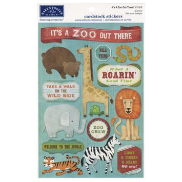 Karen Foster Cardstock Stickers-It's A Zoo Out There!