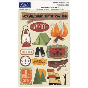 Karen Foster Outdoors/Camping Cardstock Stickers 5.5X9-I'd Rather Be Camping