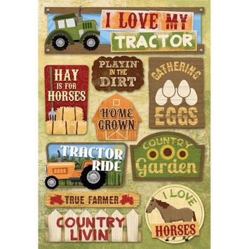 Karen Foster KFFRM-ST-11637 Farm Cardstock Stickers 5.5 in. X9 in. -I Love My Tractor