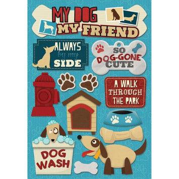 Karen Foster KF11642 Dog Cardstock Stickers 5.5 in. X9 in. -My Dog My Friend