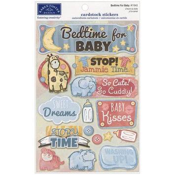 Karen Foster KF11643 Baby Cardstock Stickers 5.5 in. X9 in-Bedtime For Baby