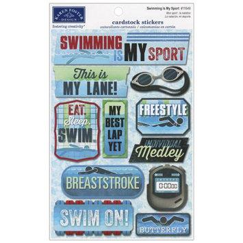 Karen Foster KF11649 Swim Team Cardstock Stickers 5.5 in. X9 in-Swimming Is My Sport