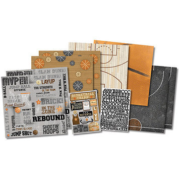 Karen Foster KF20535 Basketball Champ Scrapbook Page Kit 12 in. X12 in.