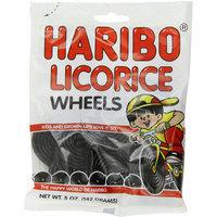 Haribo Licorice Wheels Gummi Candy, 5 oz, (Pack of 6)