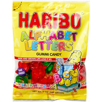 Haribo Alphabet Letters Gummi Candy, 5 oz, 6 count, (Pack of 6)