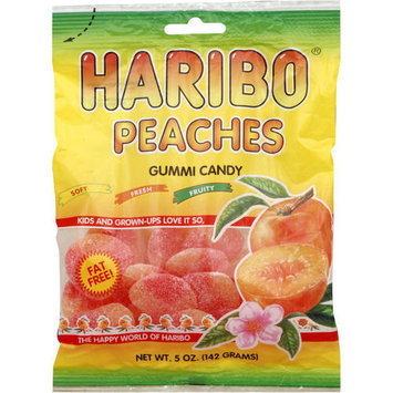 Haribo Peaches Gummi Candy, 5 oz, (Pack of 12)