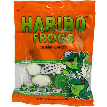 Haribo Frogs Gummi Candy, 5 oz, (Pack of 12)