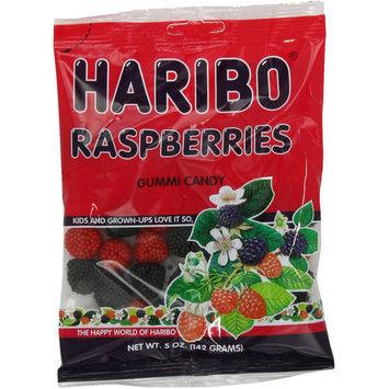 Haribo Raspberries Gummi Candy, 5 oz, (Pack of 12)