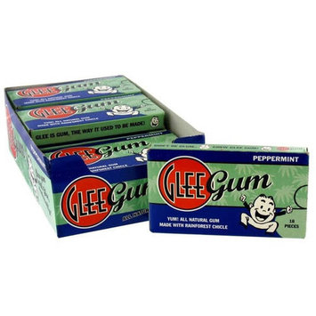 Glee Gum Peppermint Gum, 16 count, (Pack of 6)