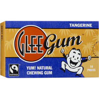 Glee Gum Tangerine Natural Chewing Gum, 16 count, (Pack of 6)