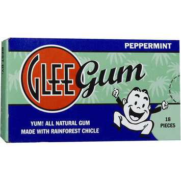 Glee Gum Peppermint Natural Chewing Gum, 75 count, (Pack of 3)