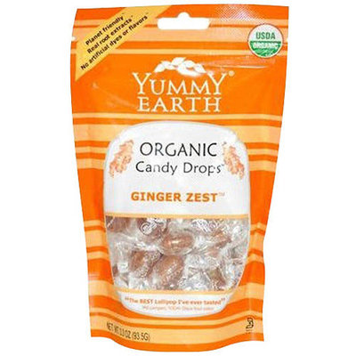 YummyEarth Ginger Yest Organic Candy Drops, 3.3 oz, (Pack of 3)