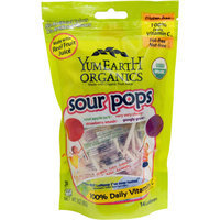 YumEarth Organics Sour Pops Candy, 14 count, 3.3 oz, (Pack of 3)