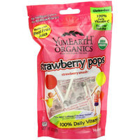 YumEarth Organics Strawberry Smash Pops Candy, 14 count, 3.3 oz, (Pack of 3)