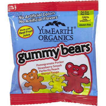 YumEarth Organics Gummy Bears, .9 oz, (Pack of 12)