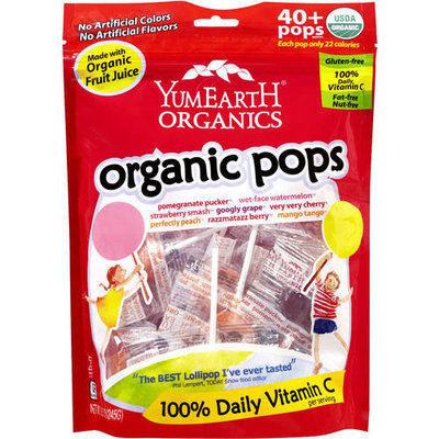 YumEarth Organics Organic Pops Candy, 8.5 oz, (Pack of 6)