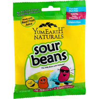 YumEarth Naturals Sour Jelly Beans, 2.5 oz, (Pack of 6)