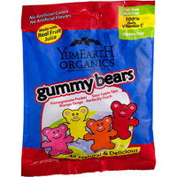 YumEarth Organics Gummy Bears, 2.5 oz, (Pack of 6)