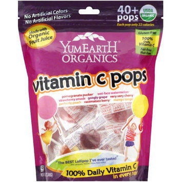 YumEarth Organics Vitamin C Pops Candy, 8.5 oz, (Pack of 3)