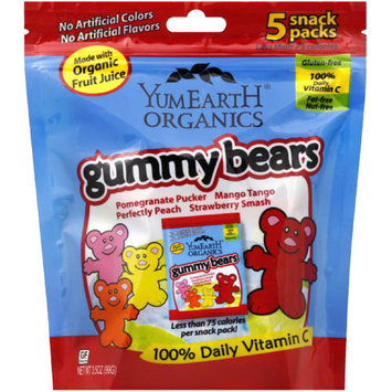 YummyEarth Gummy Bears, 3.5 oz, (Pack of 6)