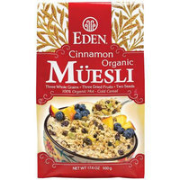 Eden Cinnamon Organic Muesli Cereal, 17.6 oz, (Pack of 3)