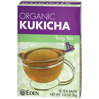 Eden Organic Kukicha Twig Tea Bags, 16 count, (Pack of 6)