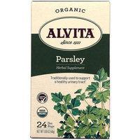 Alvita Organic Parsley Herbal Supplement Tea, 24 count, 1.69 oz, (Pack of 3)