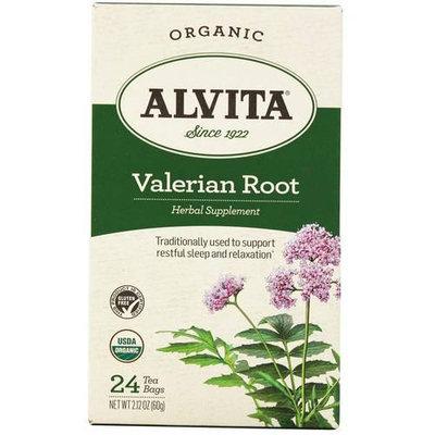 Alvita Organic Valerian Root Herbal Supplement Tea, 24 count, 2.12 oz, (Pack of 3)