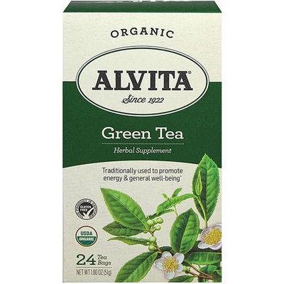 Alvita Organic Herbal Supplement Green Tea, 24 count, 1.8 oz, (Pack of 3)