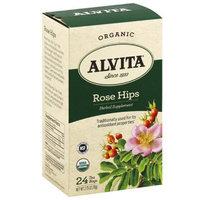 Alvita Organic Rose Hips Herbal Supplement Tea, 24 count, 2.75 oz, (Pack of 3)