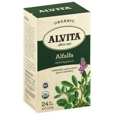 Alvita Organic Alfalfa Herbal Supplement Tea, 24 count, 1.41 oz, (Pack of 3)