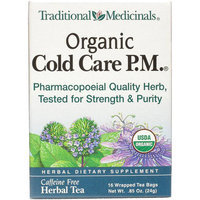 Traditional Medicinals Organic Cold Care P.M. Herbal Supplement Tea, 16 count, .85 oz, (Pack of 3)