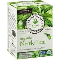 Traditional Medicinals Organic Nettle Leaf Herbal Supplement Tea, 16 count, 1.13 oz, (Pack of 3)