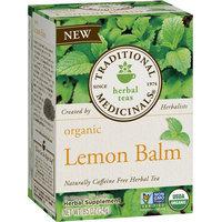 Traditional Medicinals Organic Lemon Balm Herbal Supplement Tea, 16 count, .85 oz, (Pack of 3)
